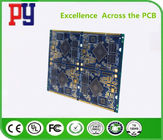 Blue 8 Layer Double Sided PCB Board 1.6MM Immersion Gold 0.25mm Hole ENIG Surface