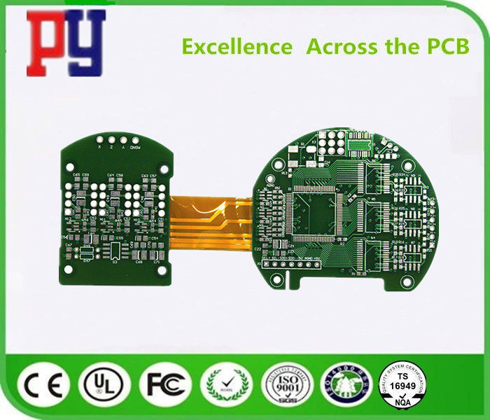 4 Polyimide Rigid Flex PCB Digital Television D Tinned Circuit Board Industry Application