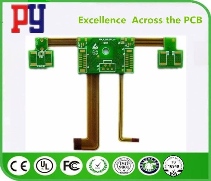 High Precision Rigid Flex PCB Polyimide Fr4 Base Material 1-3 Oz Copper Thickness